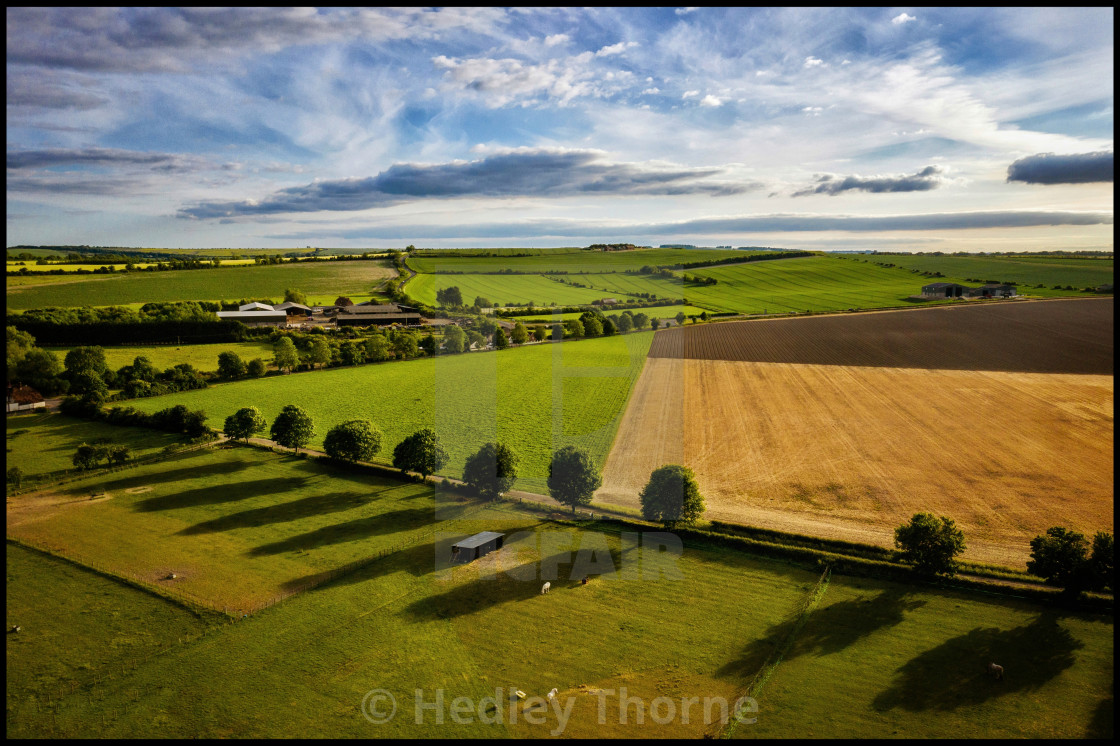 """West Hagbourne Shadows"" stock image"