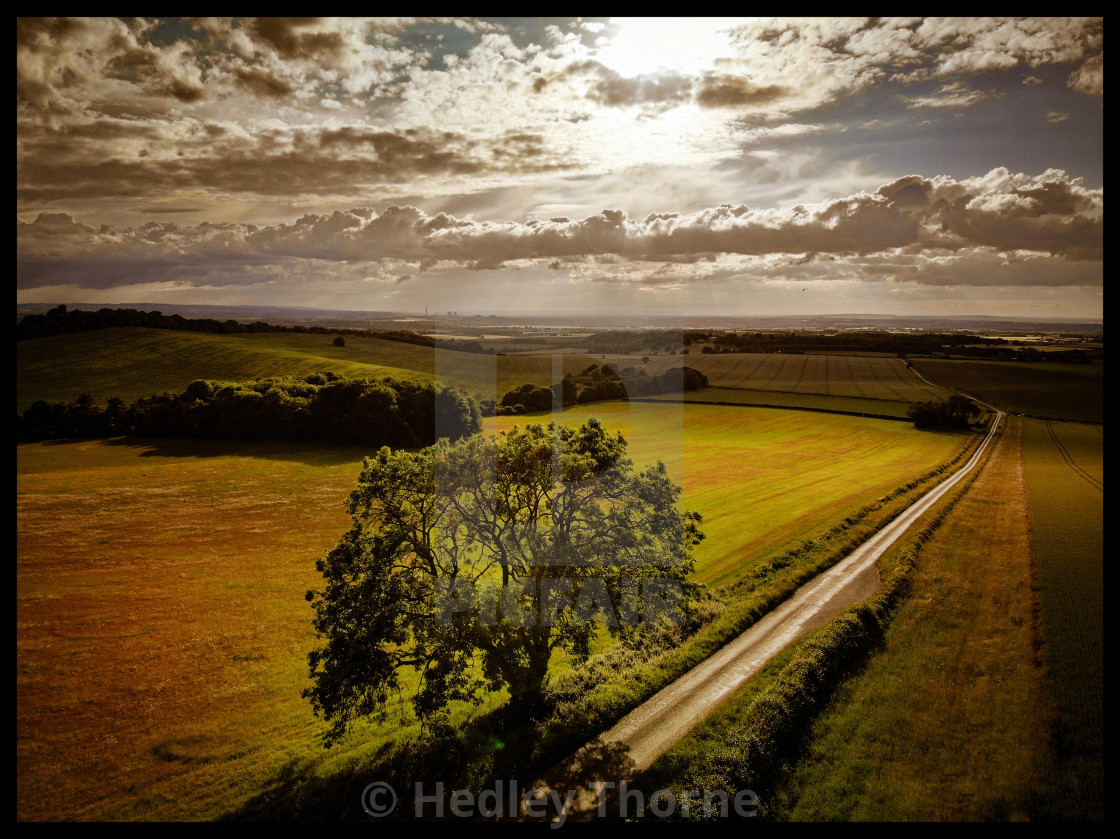 """""""Britwell Hill"""" stock image"""