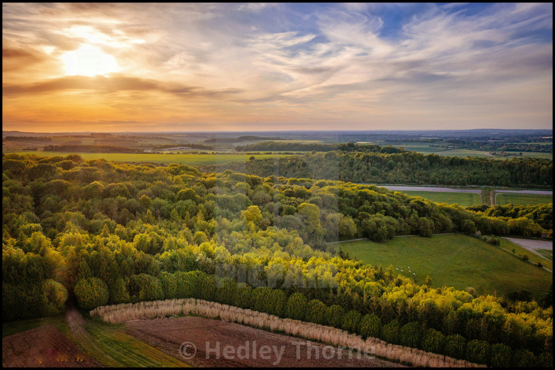 """Berkshire Downs Sunset"" stock image"