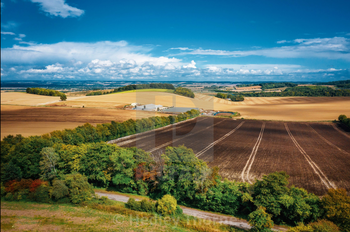 """The Berkshire Downs and The Chilterns"" stock image"