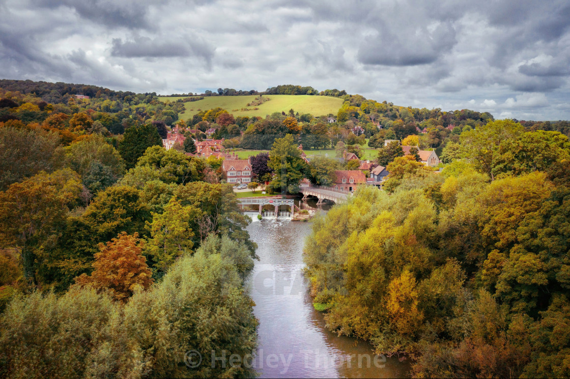 """The Thames at Streatley"" stock image"