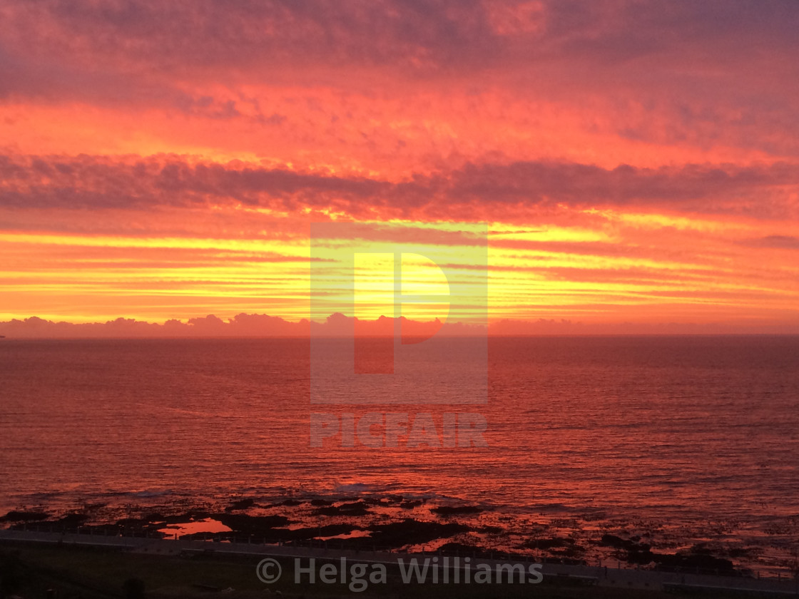 """""""Sea Point Sunsets"""" stock image"""