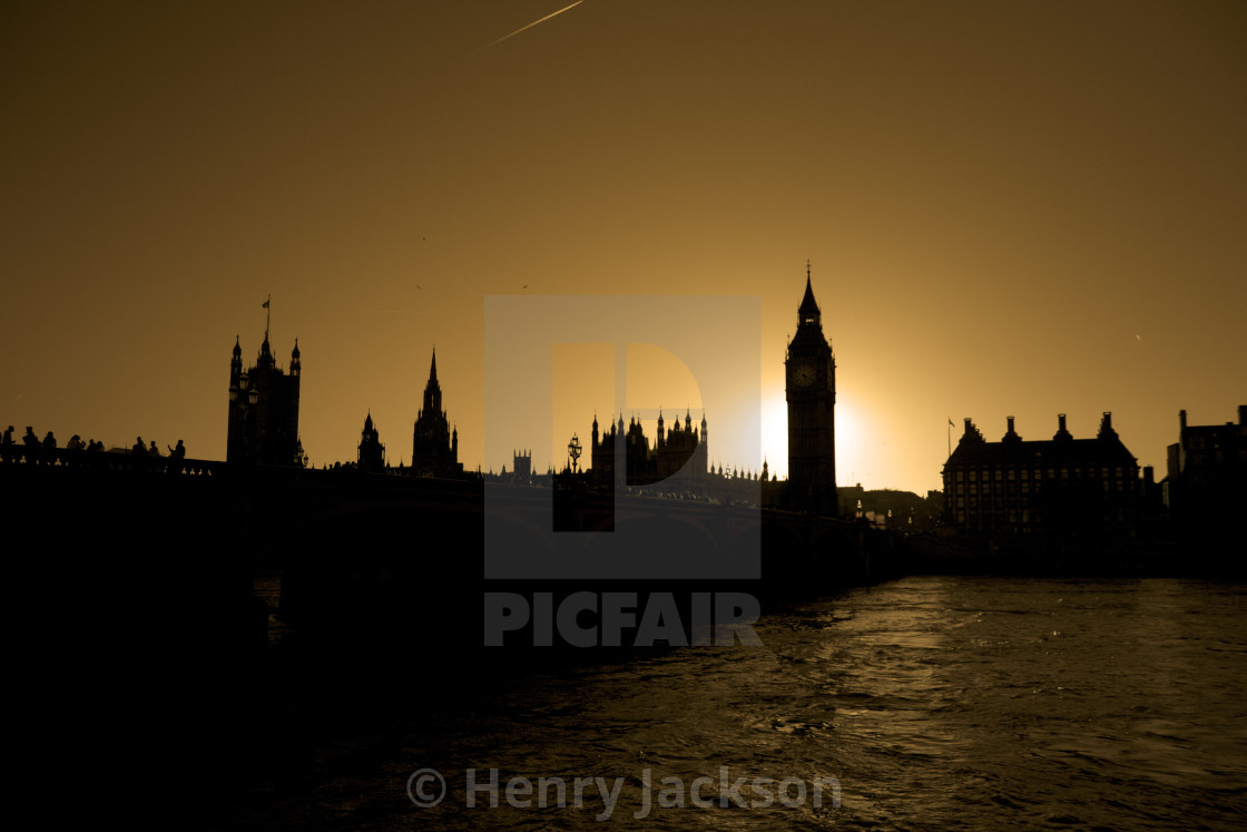 """Parliament Sunset"" stock image"