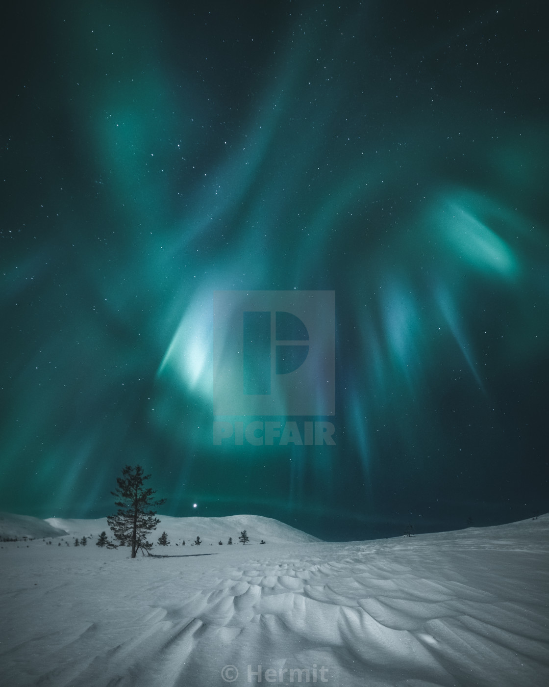 """Northern Lights Lapland"" stock image"