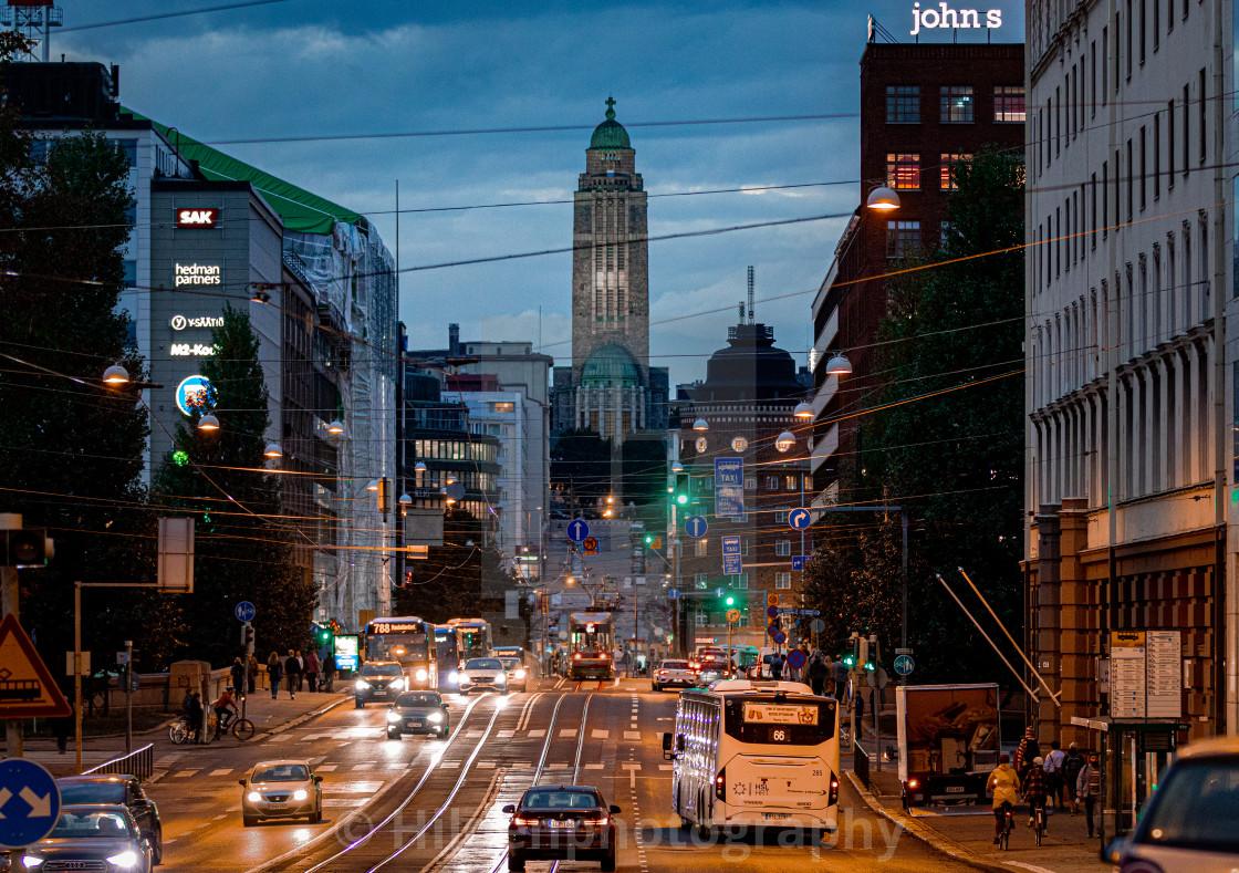 """""""Helsinki Siltasaarenkatu"""" stock image"""