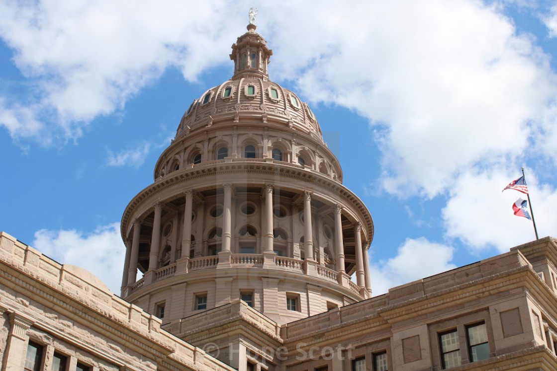"""""""Capitol State of Texas"""" stock image"""
