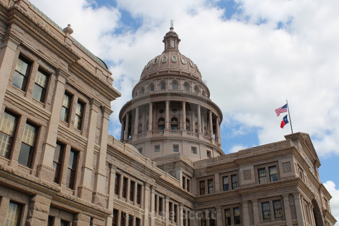 """State capitol of Texas"" stock image"