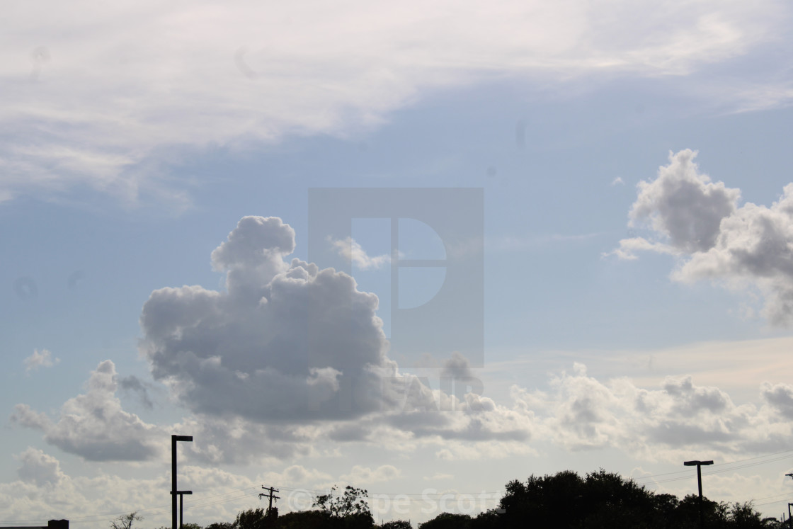 """Message in the sky"" stock image"