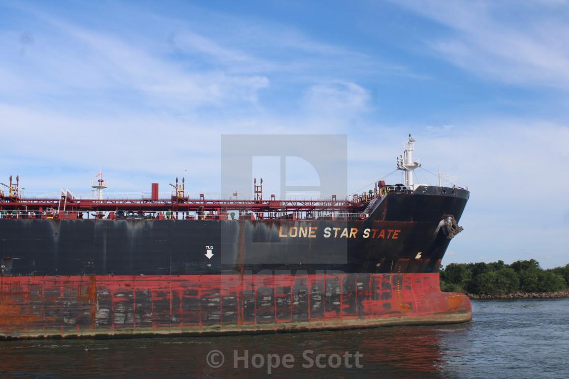 """Lone Star ship in Port of Port Arthur"" stock image"