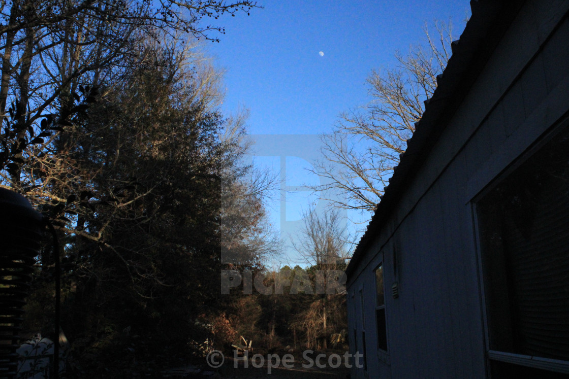 """Christmas Day Moon 2020"" stock image"