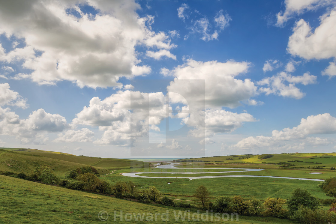 """The River Cuckmere"" stock image"