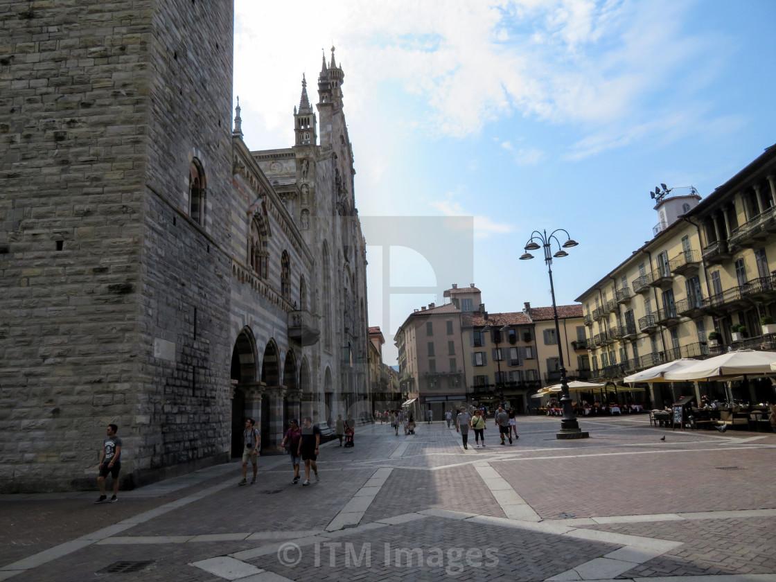 """Piazza del Duomo Lake Como"" stock image"
