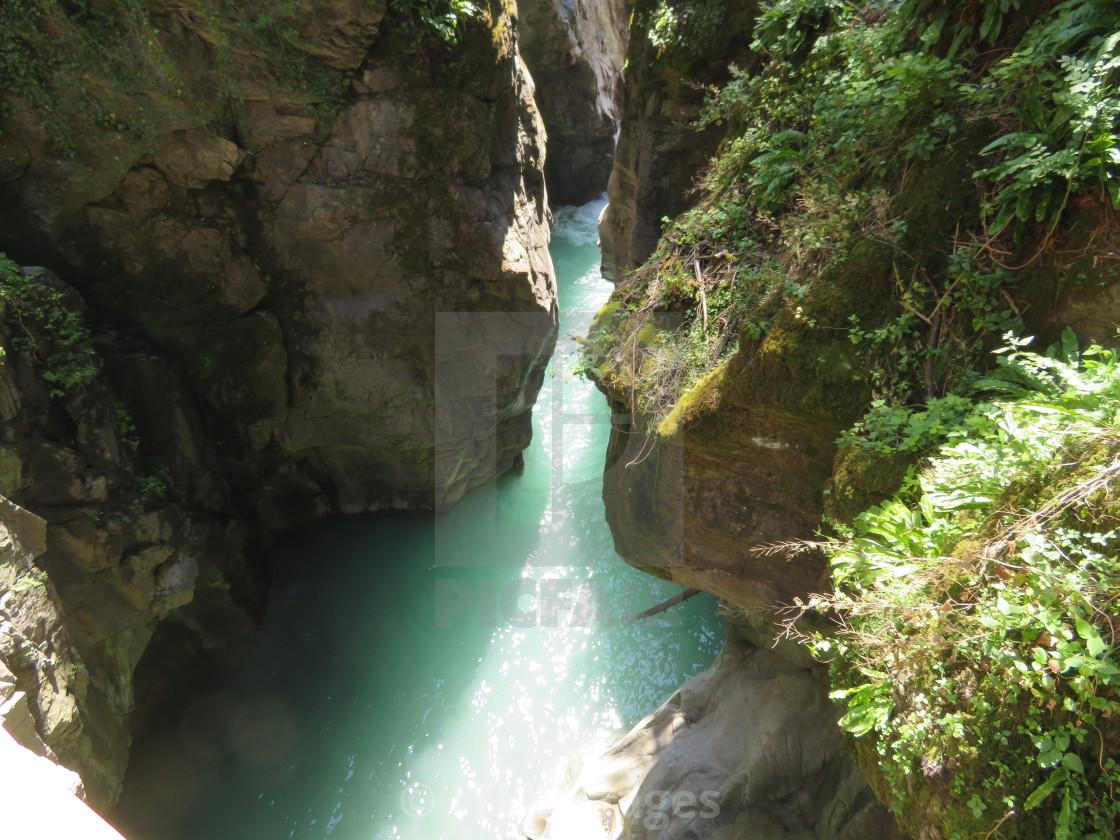 """Gorge Italy Lake Como"" stock image"
