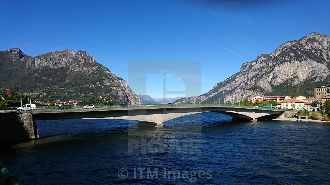 """Kennedy Bridge Lecco Lake Como"" stock image"
