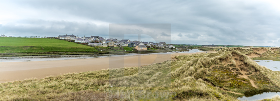 """Aberffraw from the Dunes"" stock image"