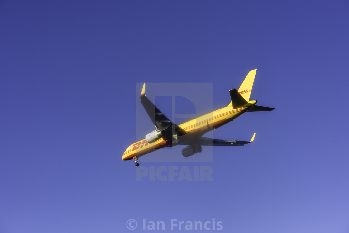 """DHL Airline Cargo Carrier"" stock image"