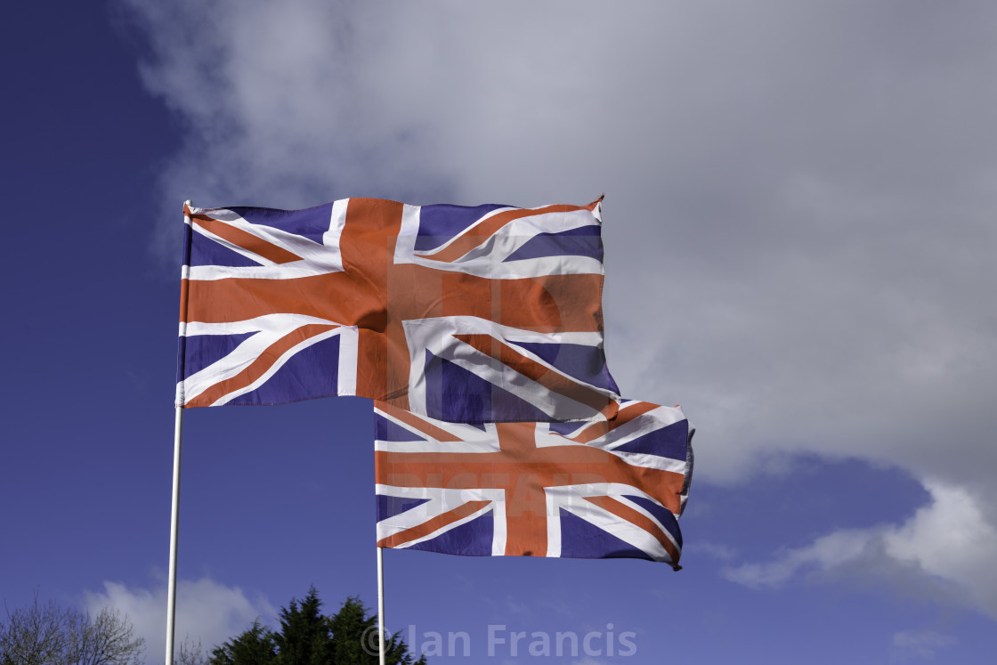 """Union Flags Side By Side."" stock image"