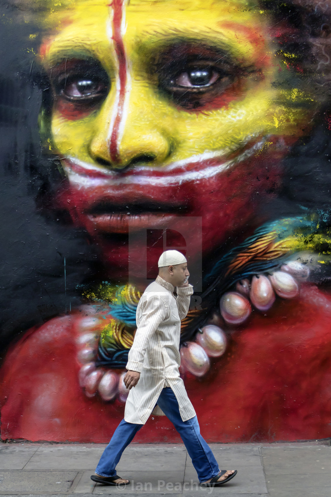 """Brick Lane Street Art"" stock image"