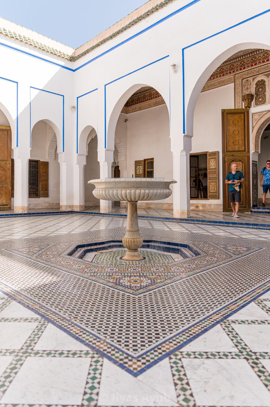 """Inside Bahia Palace, Marrakesh. Morocco"" stock image"