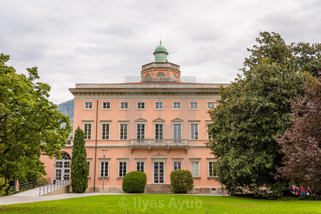 """Villa Ciani, Lugano in Switzerland in October."" stock image"