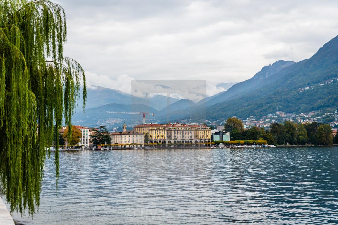 """Lugano in Switzerland in October."" stock image"