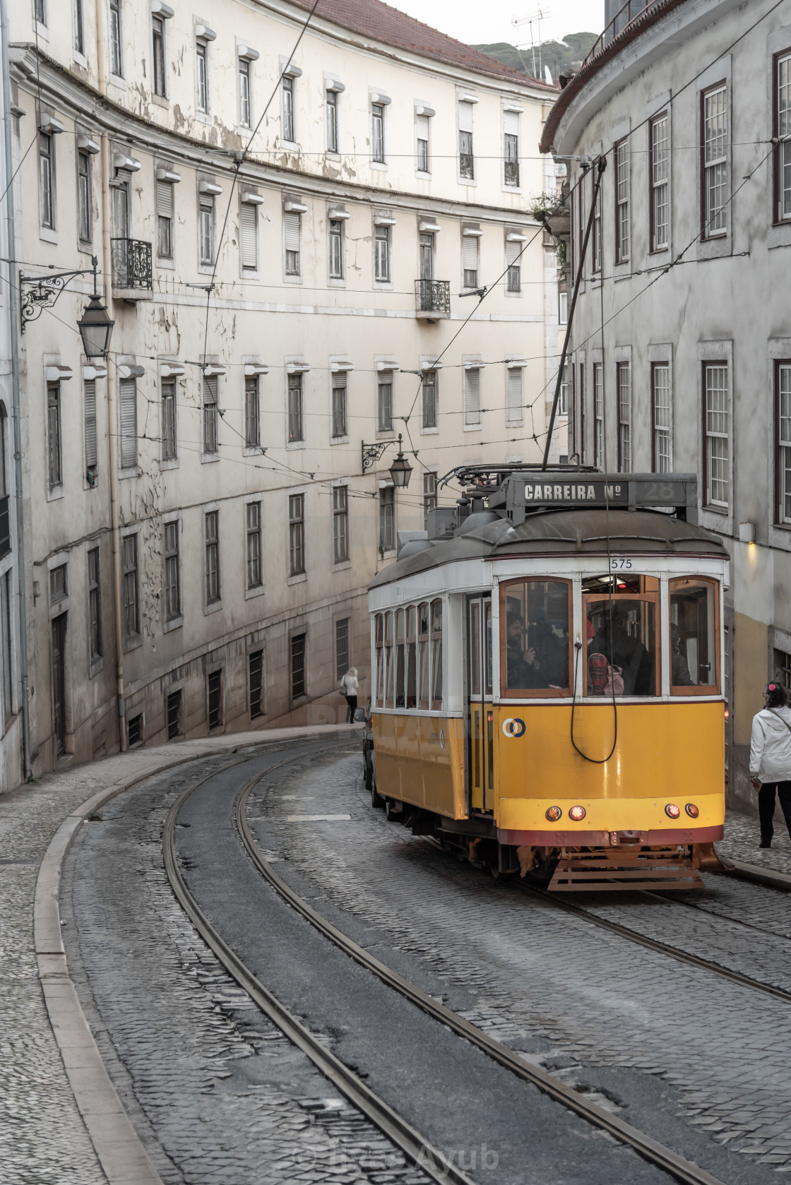 """""""The Tram in Lisbon, Portugal"""" stock image"""