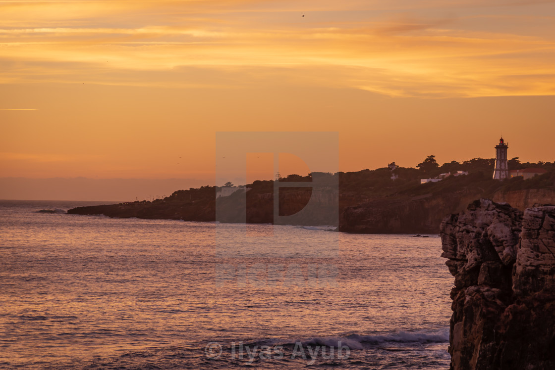 """""""Sunset in Cascais, Portugal"""" stock image"""