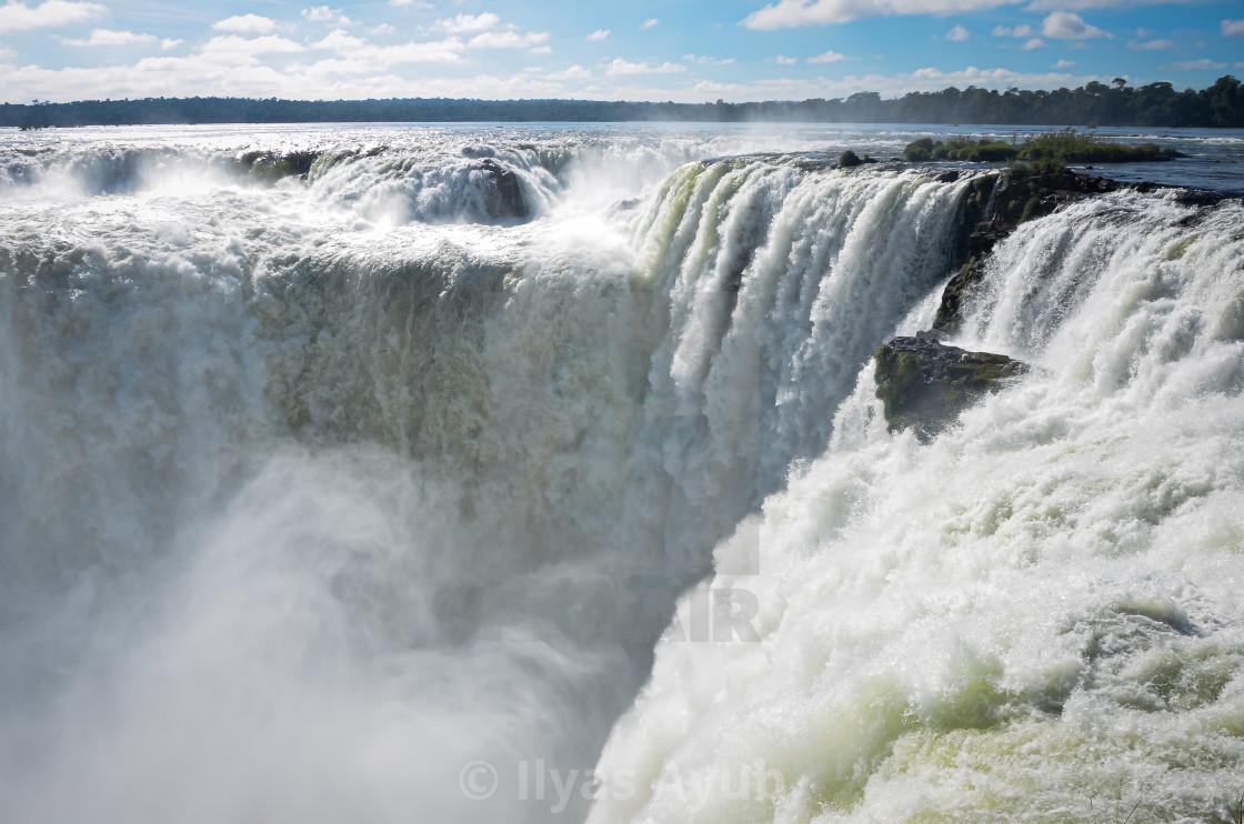 """The Devils Throat at Iguazu Waterfalls, Argentina"" stock image"