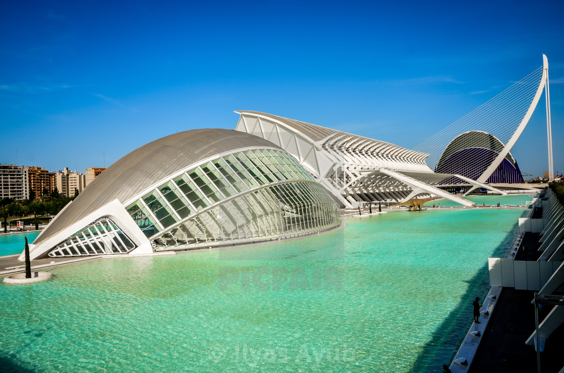 """""""City of Arts and Science, Valencia, Spain"""" stock image"""