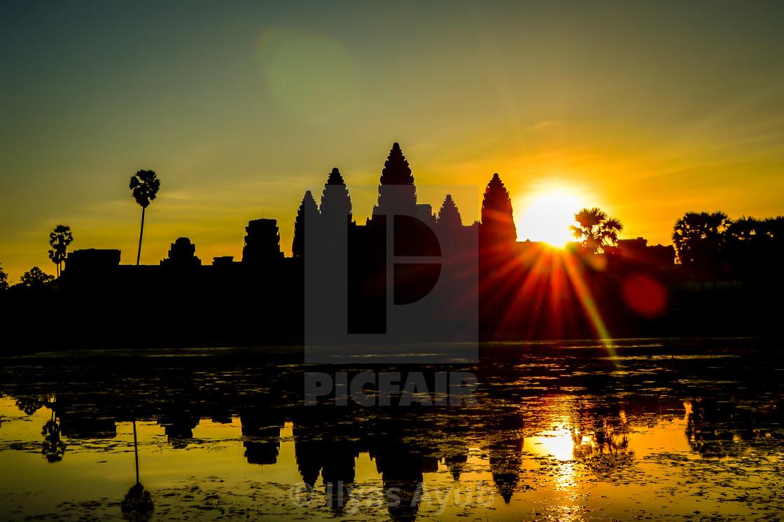 """""""Sunrise at Angkor Wat, Cambodia"""" stock image"""