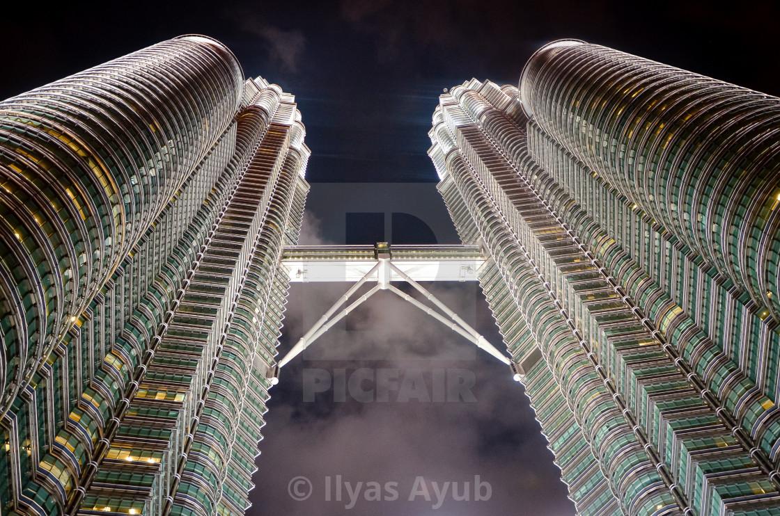 """""""Petronas Towers, Kuala Lumpur, Malaysia,"""" stock image"""