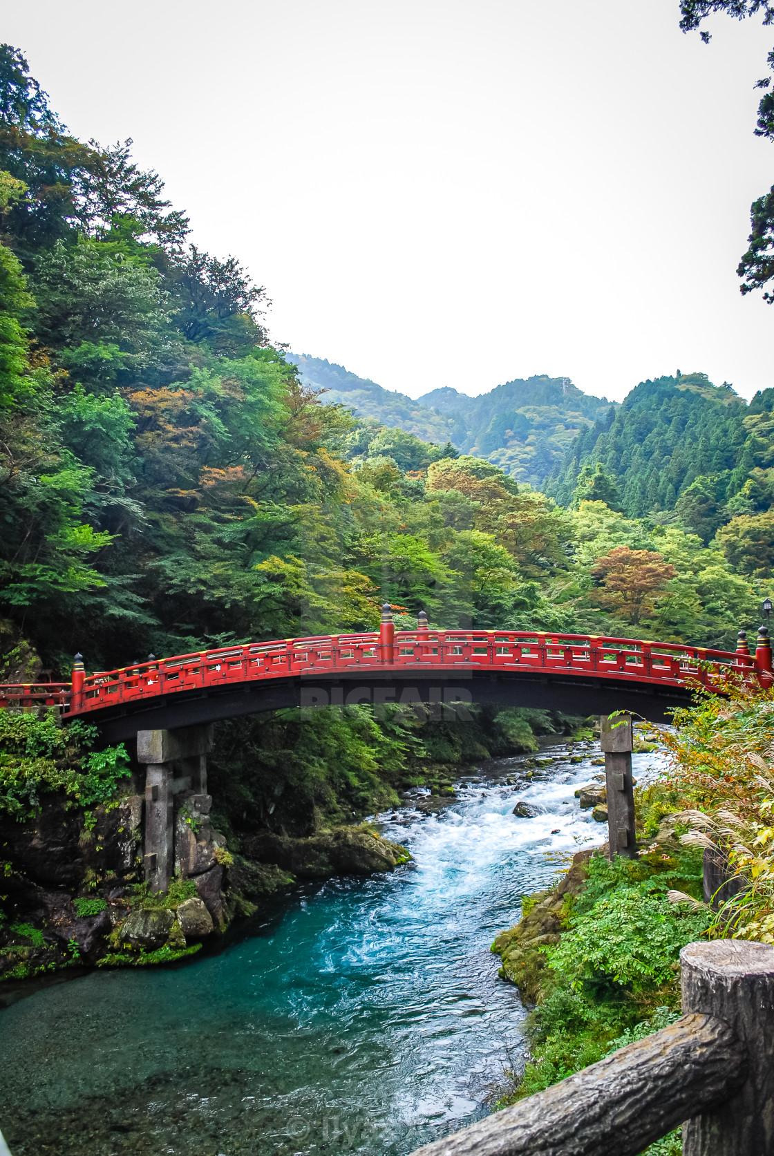 """""""Shinkyo Bridge Nikko, Japan"""" stock image"""