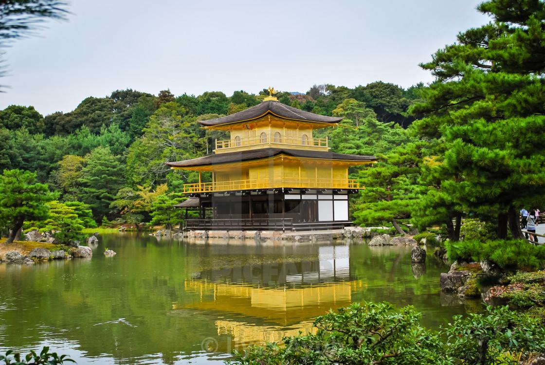 """Kinkakuji (Golden Pavilion), Kyoto, Japan"" stock image"