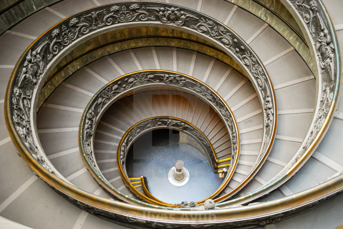 """Bramante Staircase, Vatican, Rome, Italy"" stock image"