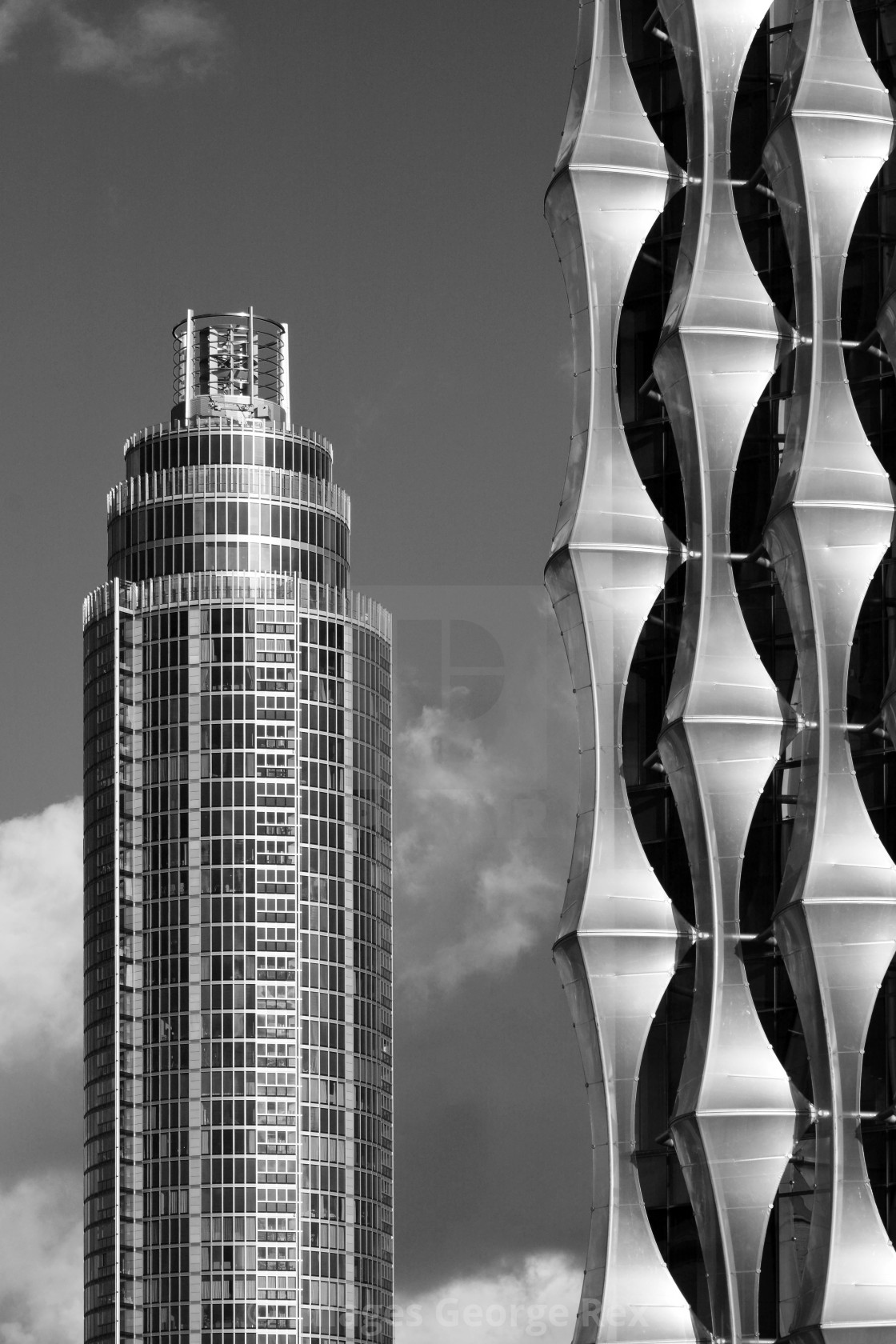 """""""St George Wharf Tower / New US Embassy"""" stock image"""