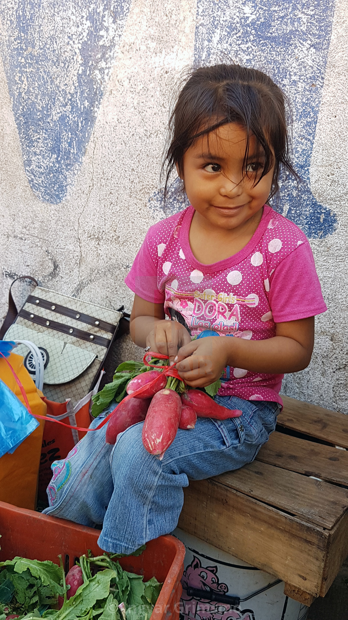 """""""Adorable little girl in Mexico"""" stock image"""