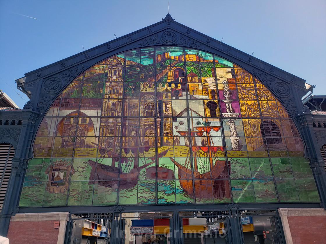 """Market in Malaga, Spain."" stock image"