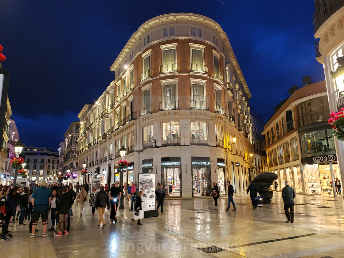 """Shopping in Malaga, Spain"" stock image"