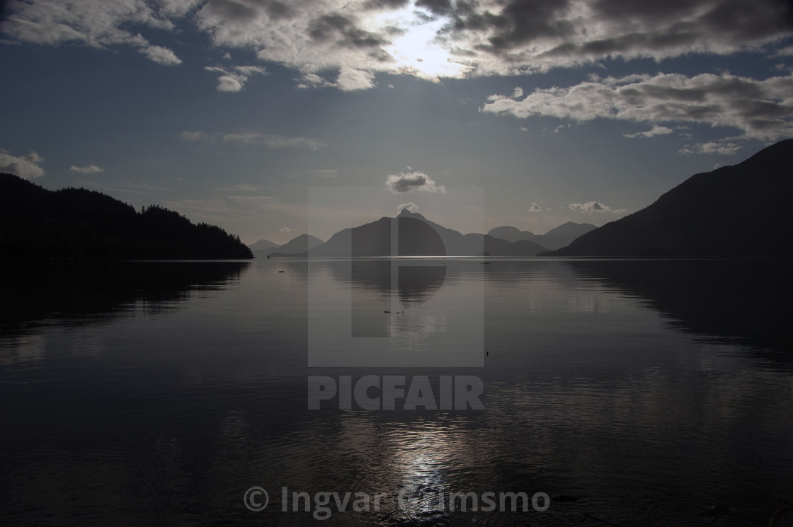 """View of Howe Sound from Lions Bay, BC"" stock image"