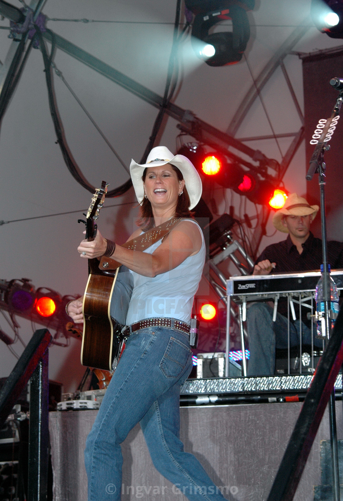 """""""Country singer at the Lynden Fair"""" stock image"""