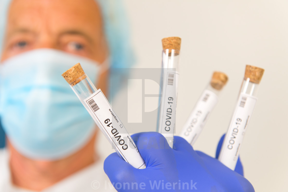 """Many covid-19 tests"" stock image"