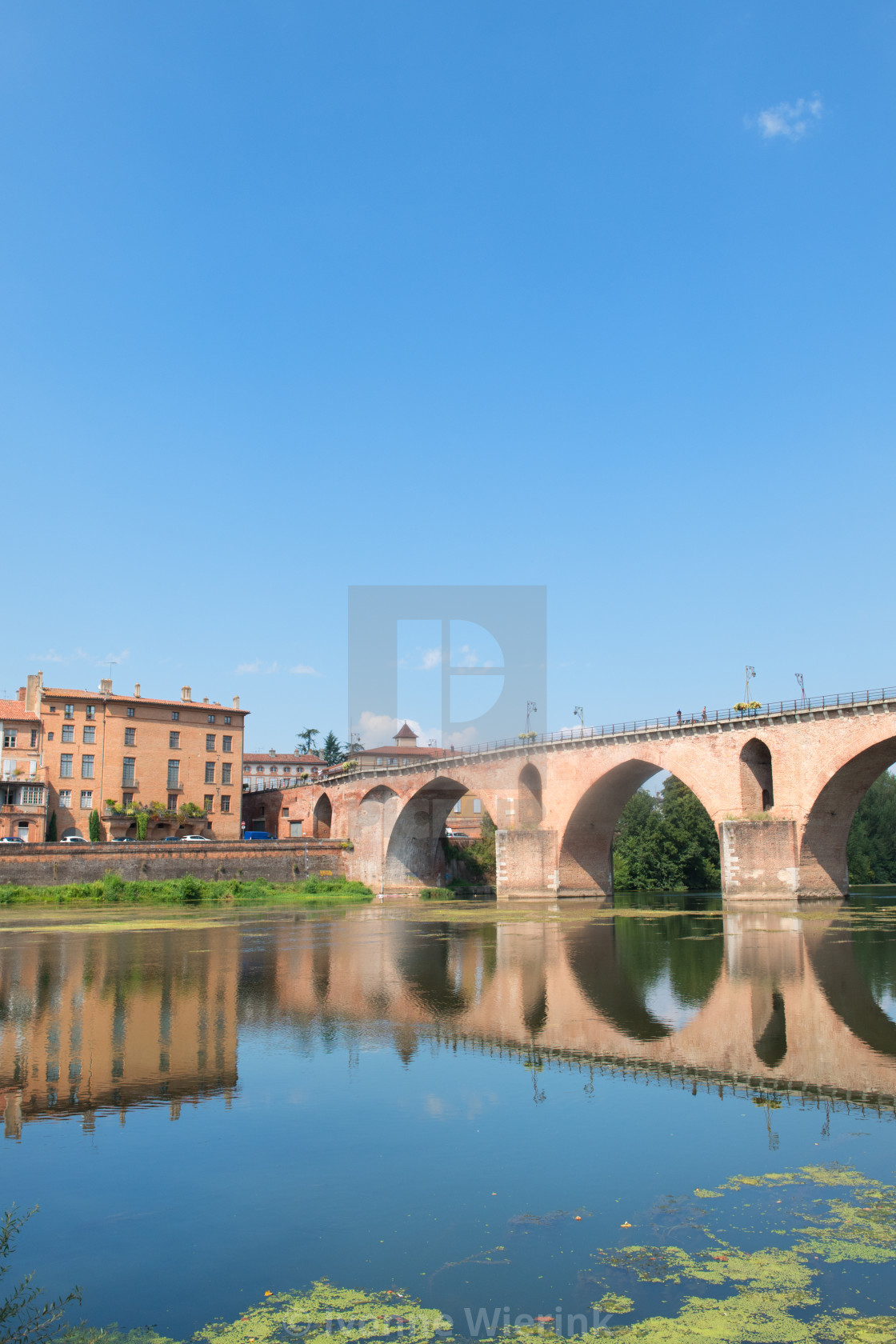 """Old bridge in Montauban"" stock image"