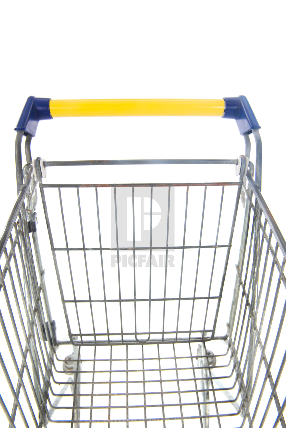 """Shopping cart blue and yellow"" stock image"