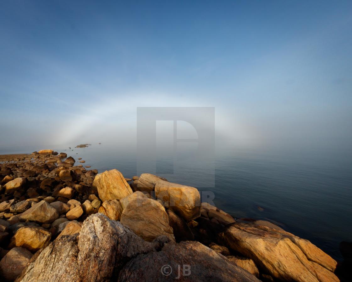 """Fog Bow"" stock image"