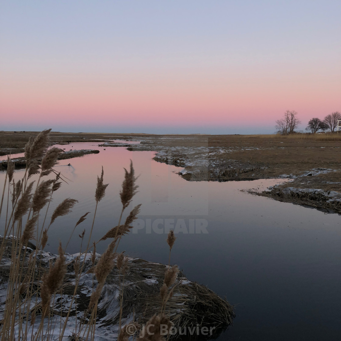 """Cape Cod marsh + sky"" stock image"