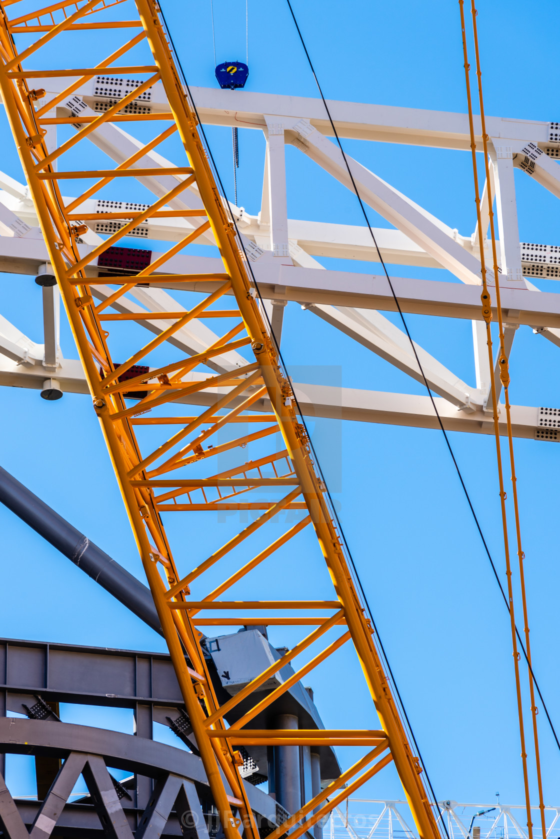 """""""Close-up Detail of Heavy Machinery And Structural Element"""" stock image"""