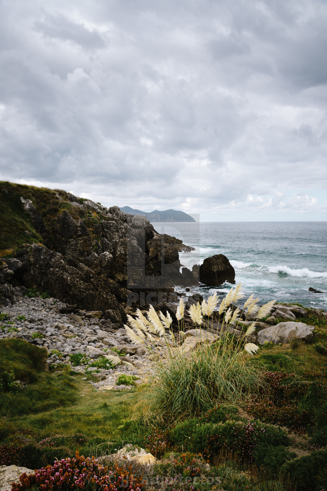 """""""Beautiful Cliffs in the Coast of Cantabria"""" stock image"""
