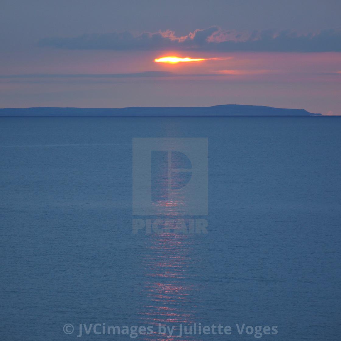 """""""Pale Sunrise"""" stock image"""