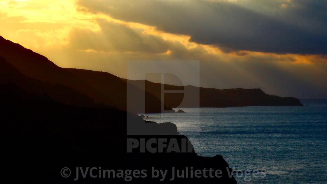 """""""Coastal Sunset"""" stock image"""
