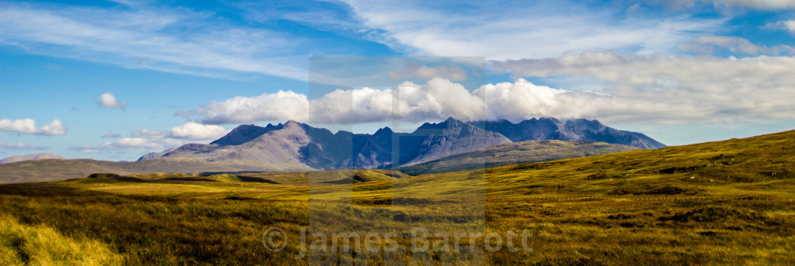 """The Cuillin of Skye"" stock image"